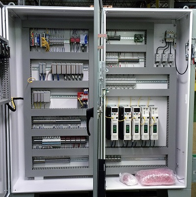 System control panel design fabrication and PLC HMI programming